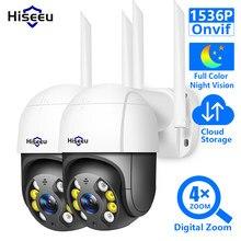 Hiseeu 3MP Cámara cámara IP WIFI inalámbrico al aire libre de Color completa visión de noche 2MP cámara IP PTZ de red de Audio Onvif de vigilancia CCTV