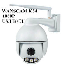 IR Kamera WiFi WANSCAM K54 Outdoor PTZ 1080P Keamanan Malam Visi 50M Tahan Air 4X Optical Zoom 2 Way audio Pengawasan(China)