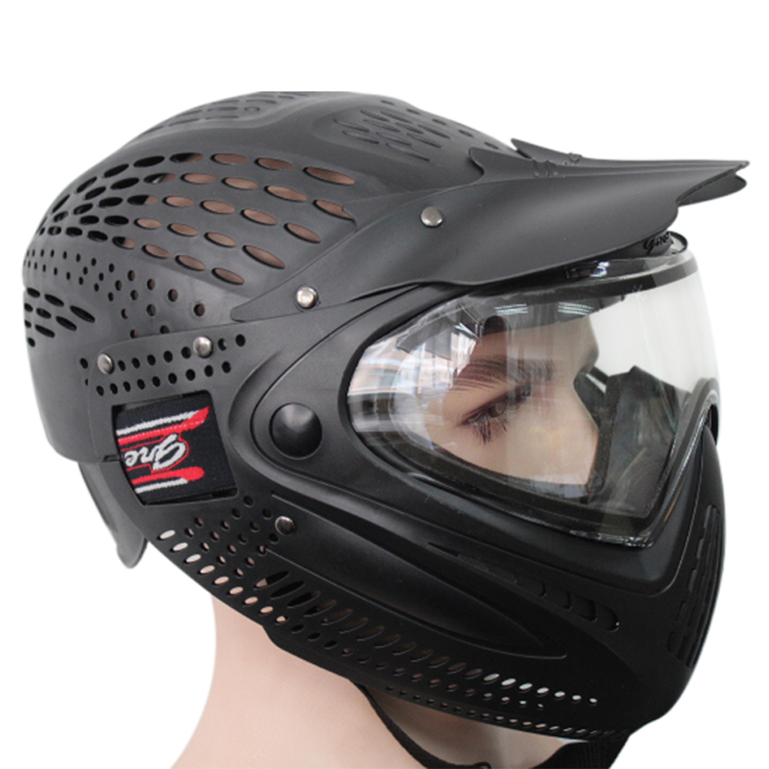 Airsoft Motorcycle Helmet Double Layer Anti-fog Tactical Military Helmet Paintball Head Mask Face Mask For Outdoor
