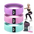 Фитнес-Эспандеры для бедер, набор для тренировок, тканевые петли, поножки для йоги, 3 предмета, для ног, бедра, ягодиц, приседаний, оборудовани...