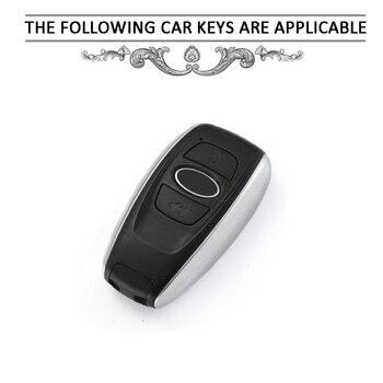 Pcmos титановый автомобильный чехол для брелка с ключом протектор для Subaru Forester 2013-2019 чехол для ключей для автомобиля с брелком интерьерные акс...