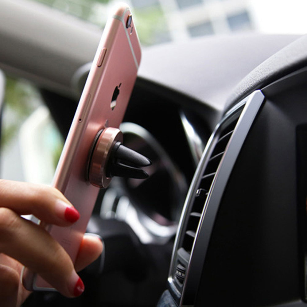 Car Magnetic Holder Support Telphone Voiture Support Telephone Portable Mobile Accessories Product Black Gold Silver Foriphone