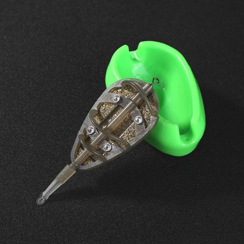 1set Inline Method Feeder Mould Bait Thrower Bait  Carp Fishing Bait HolderPL/_sy