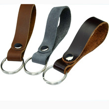 Keychain Leather Belt Car Key Chain Creative Gift Accessories Hanging Rope Pendant Keyring