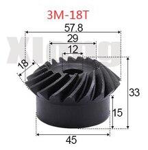 2pcs 3M-18Teeths Inner Hole: 12mm Precision Spiral Bevel Gear Spiral Bevel Gear 0 5m 27t aluminum alloy precision spur gear hole d 3mm