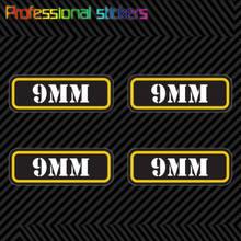 (4x) 9mm Munition Können Aufkleber Set Aufkleber Selbst Klebe Molon Labe Kugel 9 Mm Typ 2 für Auto, laptops, Motorräder, Büro Liefert