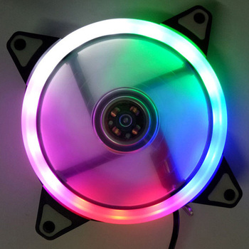 120mm LED Cooling Fan 12V 4Pin to 3Pin RGB Ultra Quiet Computer PC CPU Cooler VH99