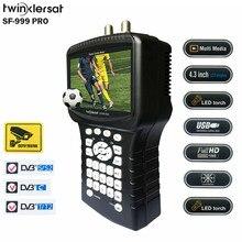 """Digital Satellite & terrestre & cavo HD Combo Signal Meter SF 999 PRO 4.3 """"schermo analizzatore di spettro Youtube WiFi Powervu CS"""