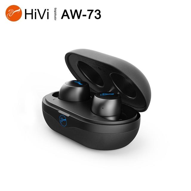Hivi AW73 TWS Ture – écouteurs intra auriculaires sans fil Bluetooth 5.0, pilote dynamique, étanche AAC/SBC IPX5