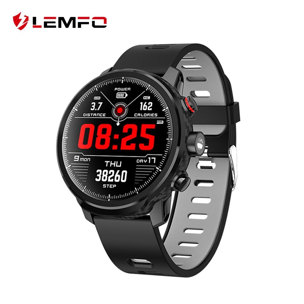 LEMFO L5 Smart Horloge Mannen IP68 Waterdicht Standby 100 Dagen Meerdere Sporten Modus Hartslag Monitoring Weersverwachting Smartwatch-in Smart watches van Consumentenelektronica op  Groep 1