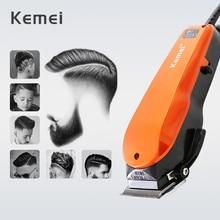 Kemei Professional Hair Clipperปรับความยาวสายไฟฟ้าTrimmerสแตนเลสที่มีประสิทธิภาพเครื่อง 35D