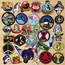 Embroidery Patch Mountain Cloth Badge Iron On Patches For Clothing Cartoon Patches Stickers Skull Embroidered Patches On Clothes embroidered patches medic skull tactical military patches paramedic decorative reflective medical cross embroidery badges