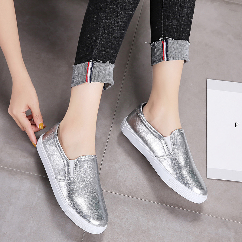 PINSEN New 2020 Autumn Loafers Women Flats Shoes Genuine Leather Casual Shoes Woman Slip-on Ballerina Flats Shoes Ladies Shoes 2