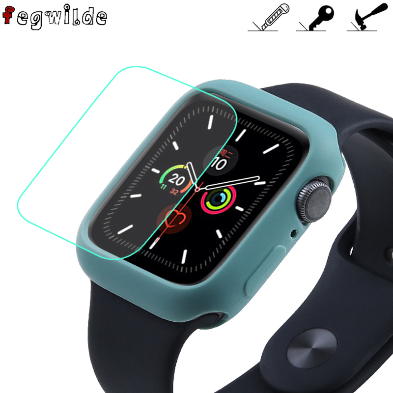 Strap For Apple Watch Band 44 Mm 40mm Iwatch Band 42mm 38mm Screen Protector Film Watchband Accessories For Apple Watch 5 4 3