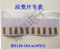 10 peças BX120-10AA (10X5) Resistência Folha de Extensômetros/Medidores de Tensão/Temperatura Normal de Extensômetros