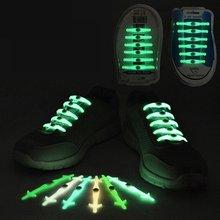 12 шт светящийся силиконовый шнурки эластичные для обуви без