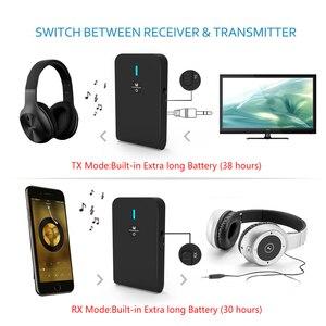 Image 3 - 2 で 1 ワイヤレスbluetooth 5.0 トランスミッタ充電式受信機テレビコンピュータ車のスピーカー 3.5 ミリメートルauxハイファイ音楽オーディオアダプタ