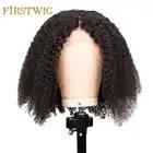 Afro Crespo parrucche dei capelli umani Brasiliani anteriori del merletto Ricci Corti Bob Parrucca Ondulata Per Le Donne Nere Lungo Parrucca Pre Colto 13x4 Remy Firstwig - 1