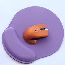 Creative Solid Color Mouse Pad Computer Mousepad Ergonomic Mouse Pad With Gel Wrist Rest Non-slip Rubber Base And Pain Relief