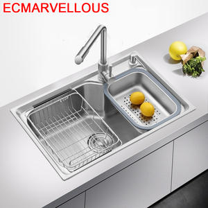 Faucet Lavabo Cuisine Pia Evier Kitchen-Sink Cozinha-De-Cocina Fregadero Inox Ze Nierdzewnej