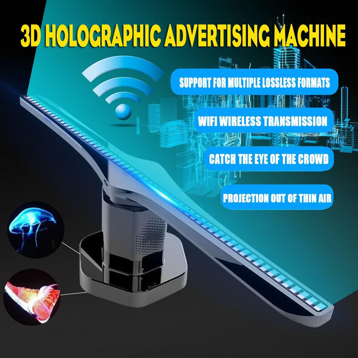 Smuxi 3D Hologram Advertising Display LED Fan Holographic Imaging LED Fan light 3d Display Advertising Light Decoration