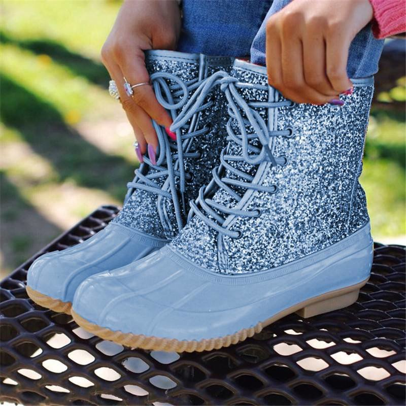 Women-s-Boots-Lady-Duck-Boot-With-Waterproof-Zipper-Rubber-Sole-Women-Rain-Boots-Lace-Up (4)