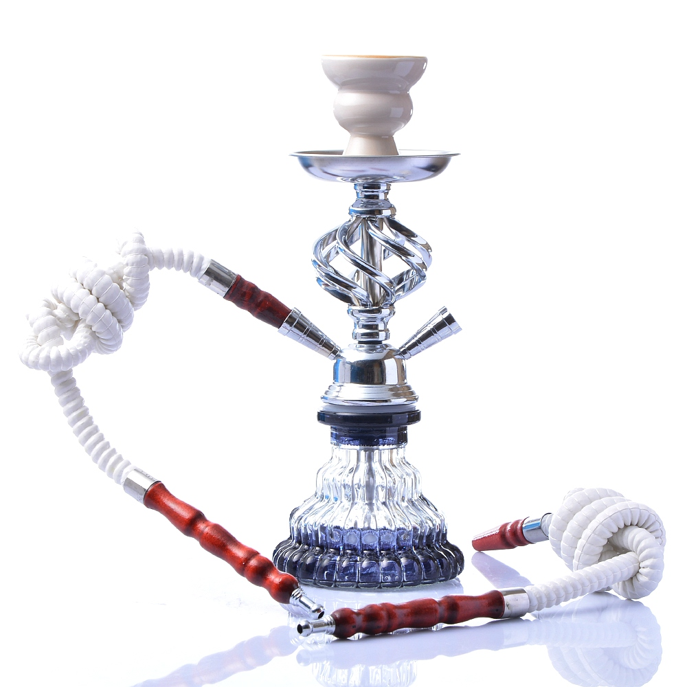 Modern Travel Cloud Hookah Double Hose Glass Shisha Pipe Nargile Chichas with Narguile Hose Bowl Charcoal Tongs Gift Wedding 1