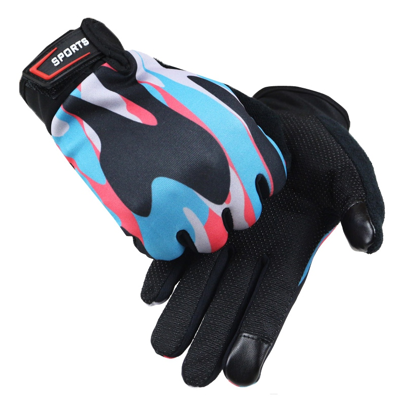 Guantes Ciclismo Radfahren Handschuhe Volle <font><b>Finger</b></font> Atmungsaktive Touchscreen Fitness Outdoor Sports MTB Bike Silica Gel Anti-skid image