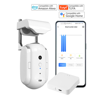 Smart curtain controller and electric curtain motor realize smart home voice control, automatic control, and timing control by r 1