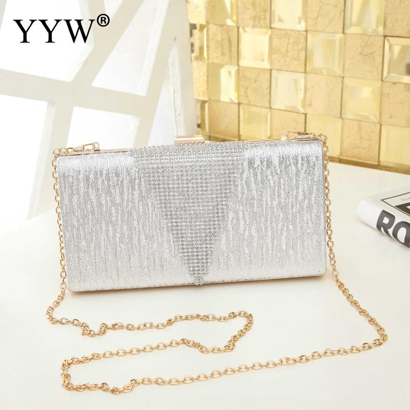 Long Box Clutch Bags For Women 2019 Fashion Evening Party Clutch Bag Designer Sling Messenger Bags Rhinestone Prom Clutches