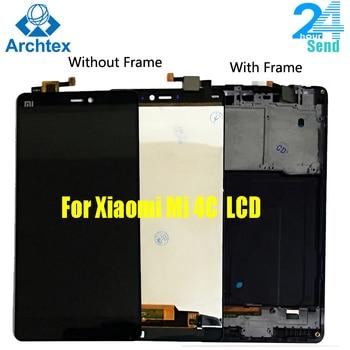 Original LCD Display Touch Screen Digitizer Assembly with Frame For Xiaomi Mi4c Mi 4c M4c Mi4i Mi 4i M4i New Tested Working