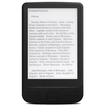 4.3 Inch E-Ink Ebook Reader 800X600 Ereader Electronic Paper Book with Front Light PU Cover(4G)
