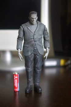 Original DST Toy Imperfect 18cm Frankenstein Grey Action Figure Collectible Model Loose Toy No box Gift In Stock
