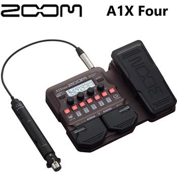 ZOOM A1X cztery instrumenty akustyczne multi-effects pedał procesora do gitary akustycznej saksofonu trąbki skrzypiec harmonijki basu tanie i dobre opinie Multi-Effects Processor Pedal CN (pochodzenie) A1X Four