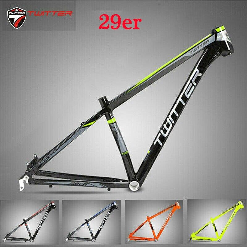 TWITTER MTB Frame 29er Mountain Bike Frame 15.5 17 19 Inche Aluminum MTB Bicycle Frameset For Wheel Size 29
