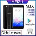 98% Новый Meizu M3X, 3 Гб оперативной памяти, 32 Гб встроенной памяти, смартфон глобальная версия Двойная камера android телефон MTK Helio P20 5,5 дюймовый экр...