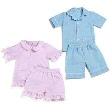 2020 summer pajama set 100% cotton seersucker baby sleeper g