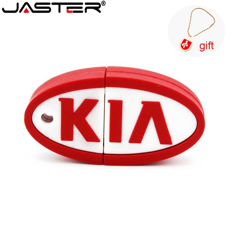 JASTER KIA Pen Drive Silicone Car Key 4GB 8GB 16GB 32GB 64GB Bulk Cartoon Usb Drive Pendrive Usb Flash Drive Memory Stick Gift