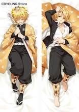 Coyoung dakimakura fronha abraçando loja corpo quente anime demônio slayer kimetsu não yaiba agatsuma zenitsu cosplay