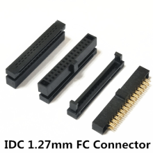 Idc Socket 1.27 Mm Fc 6 8 10 12 14 16 18 20 24 26 30 34 40 44 50 60 64 68 80 Pin Gratis Opknoping 0.635 Mm Platte Kabel In-Lijn(China)
