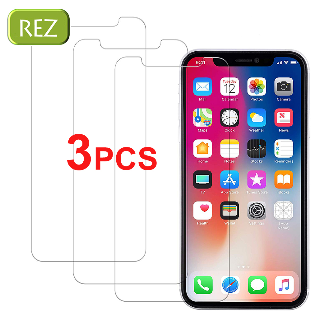 3 Pcs HD For IPhone X XR XS Max Phone Screen Protector Window Glass For IPhone 11 Pro MAX 7 8 Plus 6 6S Tempered Glass Protect