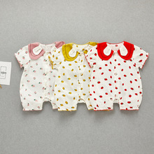 Baby Summer Clothing Newborn Infant Bebe Boy Girl Polka Dot Romper Clothes Short Sleeve Cute Fashion Outfit Cotton Jumpsuit