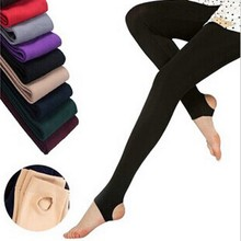 Stretch Candy-Color Leggings Thick Women's Fall/winter Bamboo-Charcoal New-Arrivals