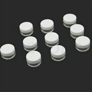 Image 2 - 10pcs 2g/3g/5g/10g/15g/20g Plastic Clear Cosmetic Jars Container White Lid Lotion Bottle Vials Face Cream Sample Pots Gel Boxes