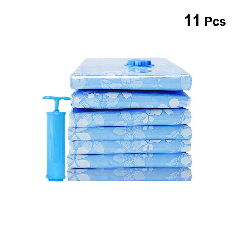 OUNONA 11 шт. вакуумный мешок для хранения утолщенный сжатый мешок экономии пространства упаковочный мешок с ручным насосом для одеяла Одежда Одеяло - Color: 11pcs