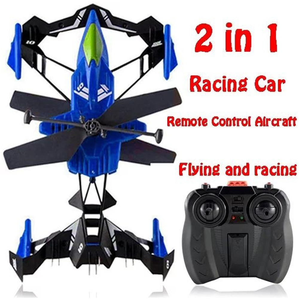Lozenge Mini Drone Toy Amphibian RC Plane Outdoor Activities Anti-Crash ABS Flying Aerial Vehicles Aircraft for Gift