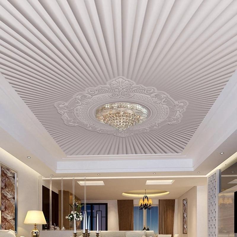 Papier peint auto adhésif 3D personnalisé, motif gaufré de Style européen moderne, fresque de plafond pour salon, imperméable