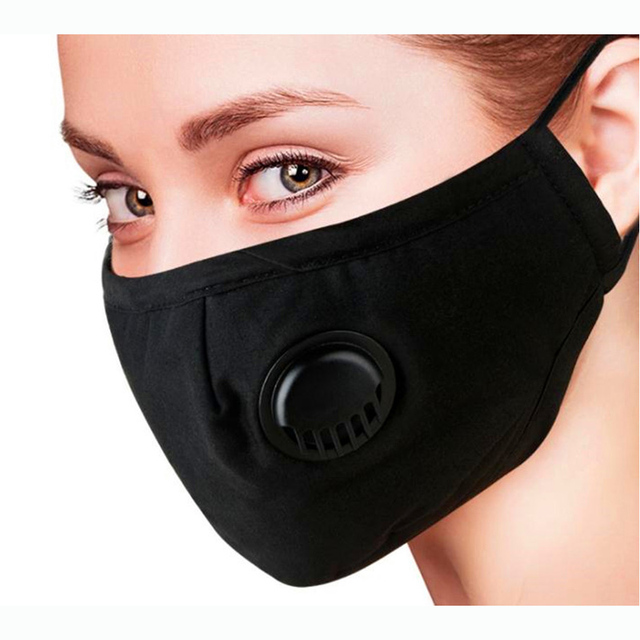 PM2.5 Washable Mouth Mask With Valve Adult Kids Children Anti Haze Dust Mask Nose Filter Face MuffleRespirator 2