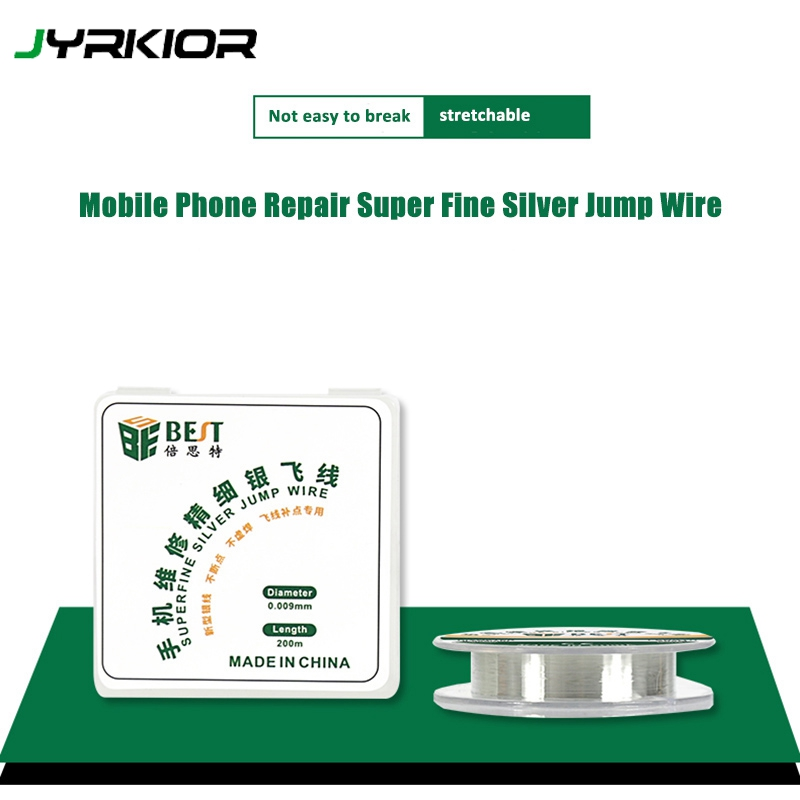 0.009mm Silver Jump Wire PCB Link Wire Soldering Wire Fingerprint Maintenance Fly Line Mobile Phone Computer Repair Tools|Hand Tool Sets| |  - title=
