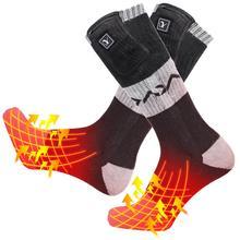 Day Wolf new heating socks pocket zipper riding skiing outdoor sports warm socks winter heating socks